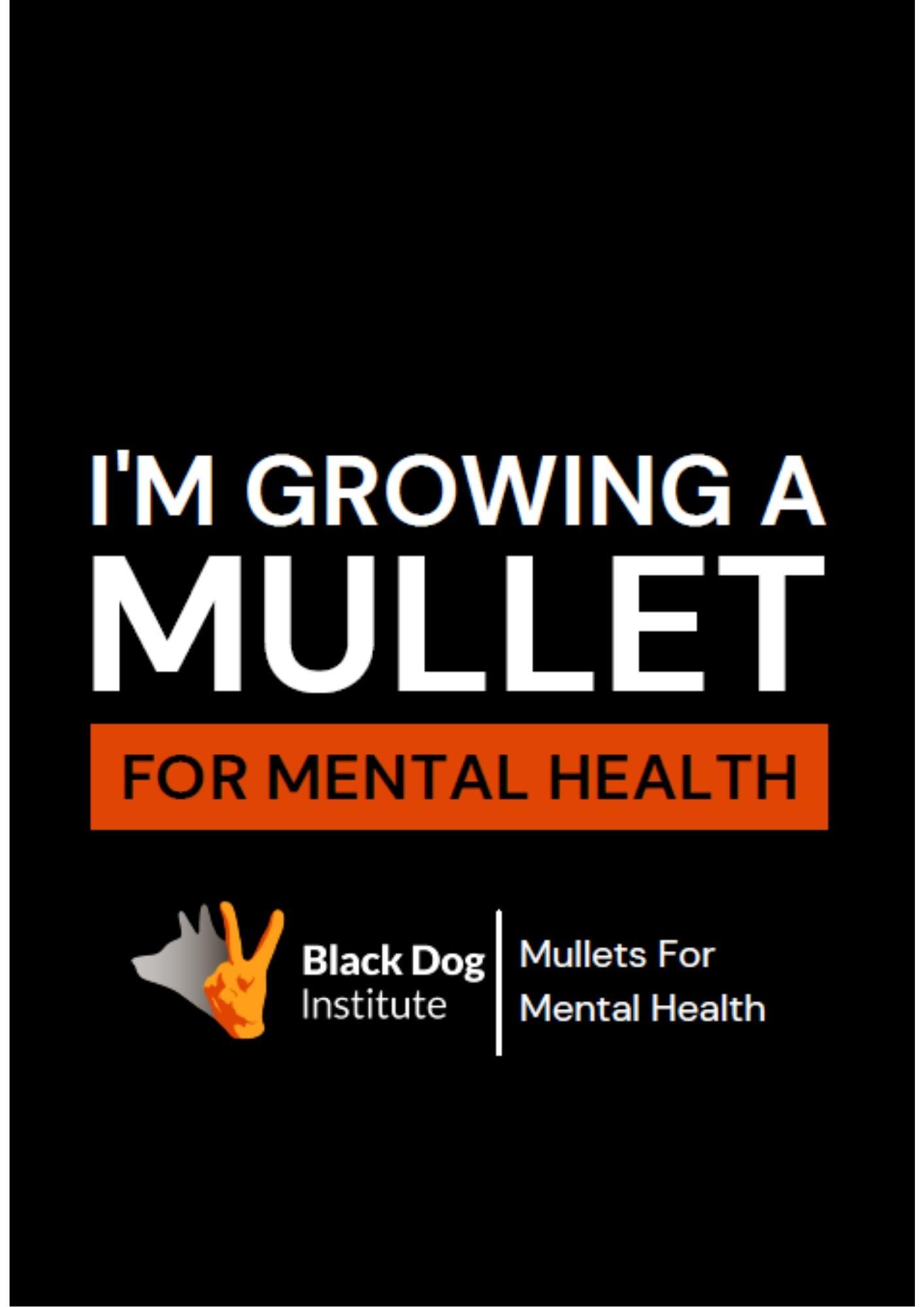 Mullet General Black Poster