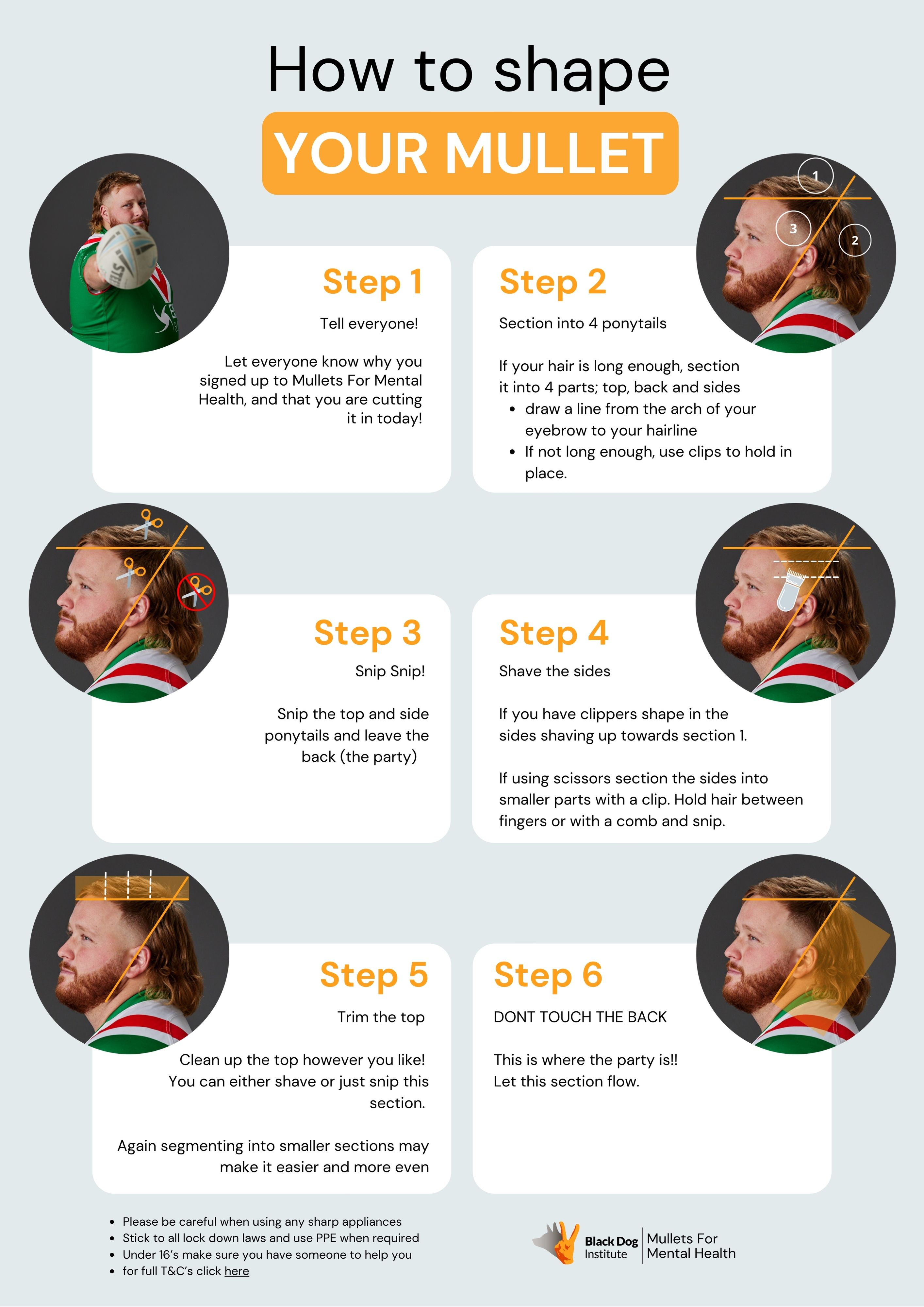 How to shape your mullet