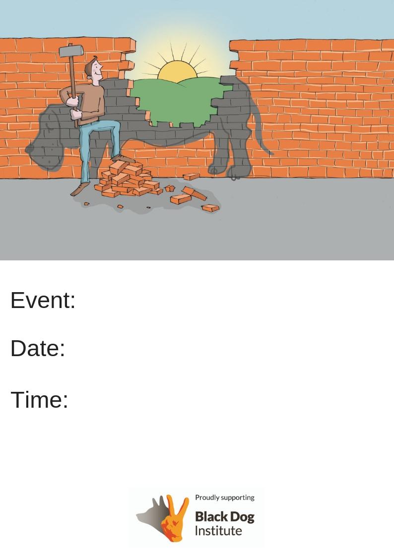 Black Dog Event Poster