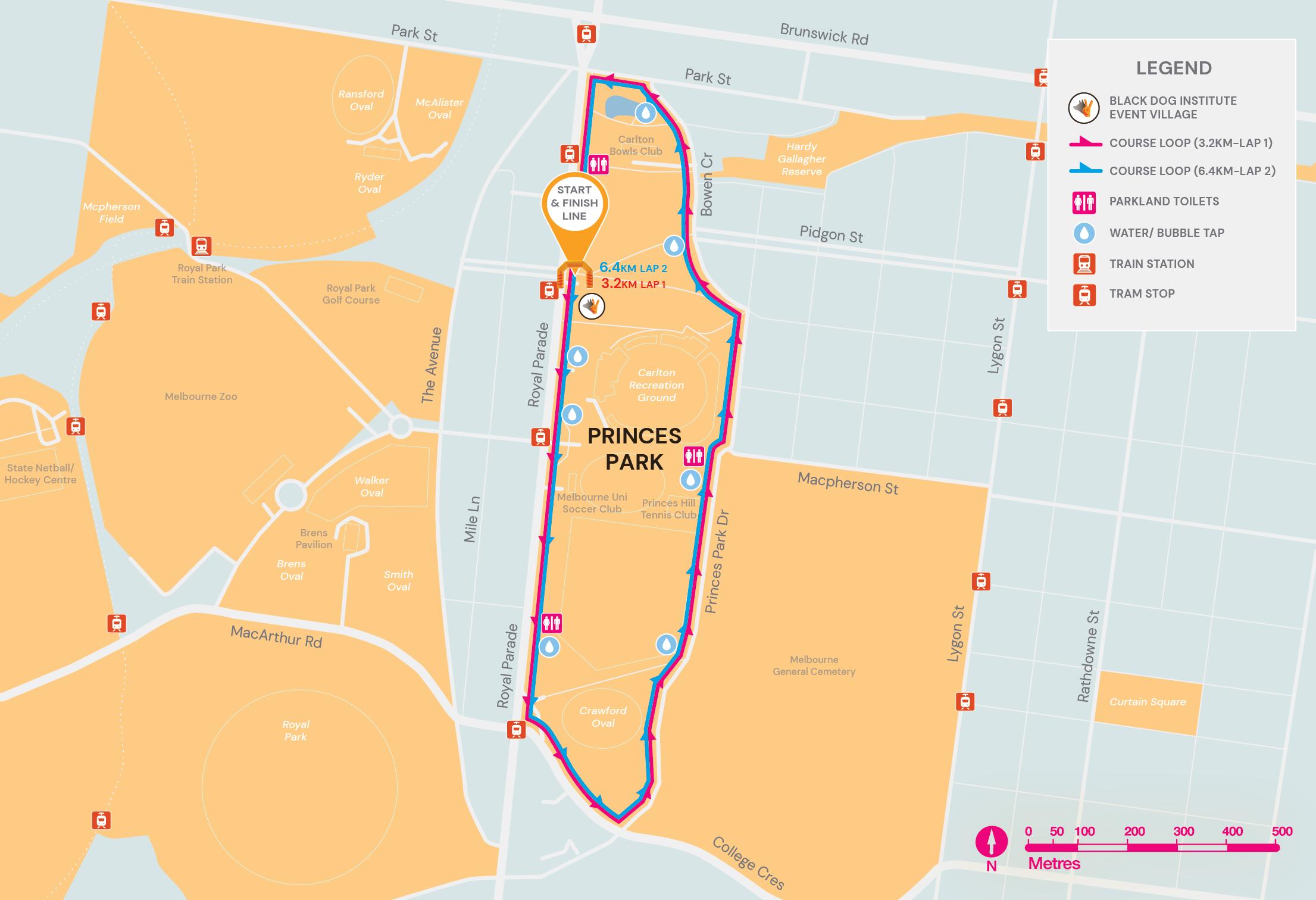 Princes Park Walk Map